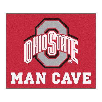 Ohio State University Red Man Cave 5 ft. x 6 ft. Area Rug
