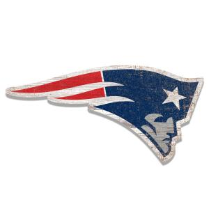 NFL Indoor New England Patriots Distressed Logo Cutout Wood Sign