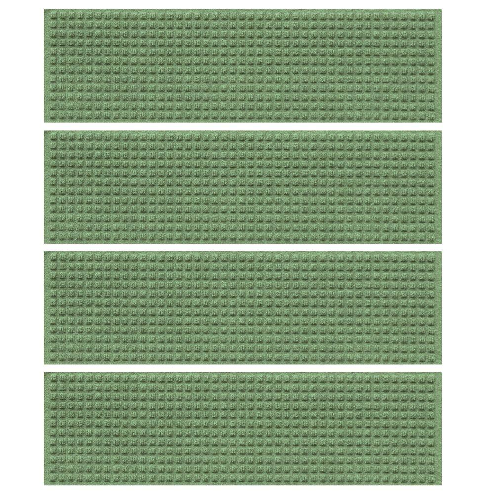 Light Green 8.5 in. x 30 in. Squares Stair Tread (Set