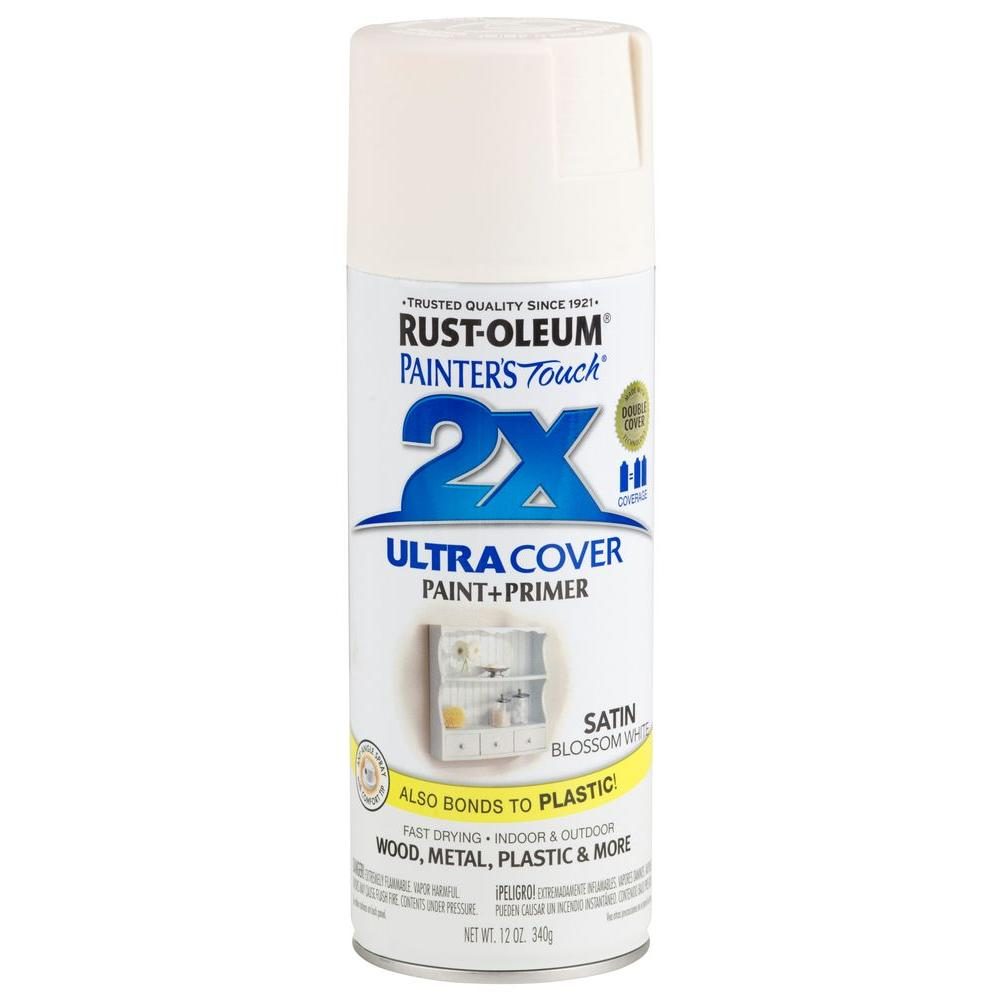 12 oz. Blossom White Satin General Purpose Spray Paint