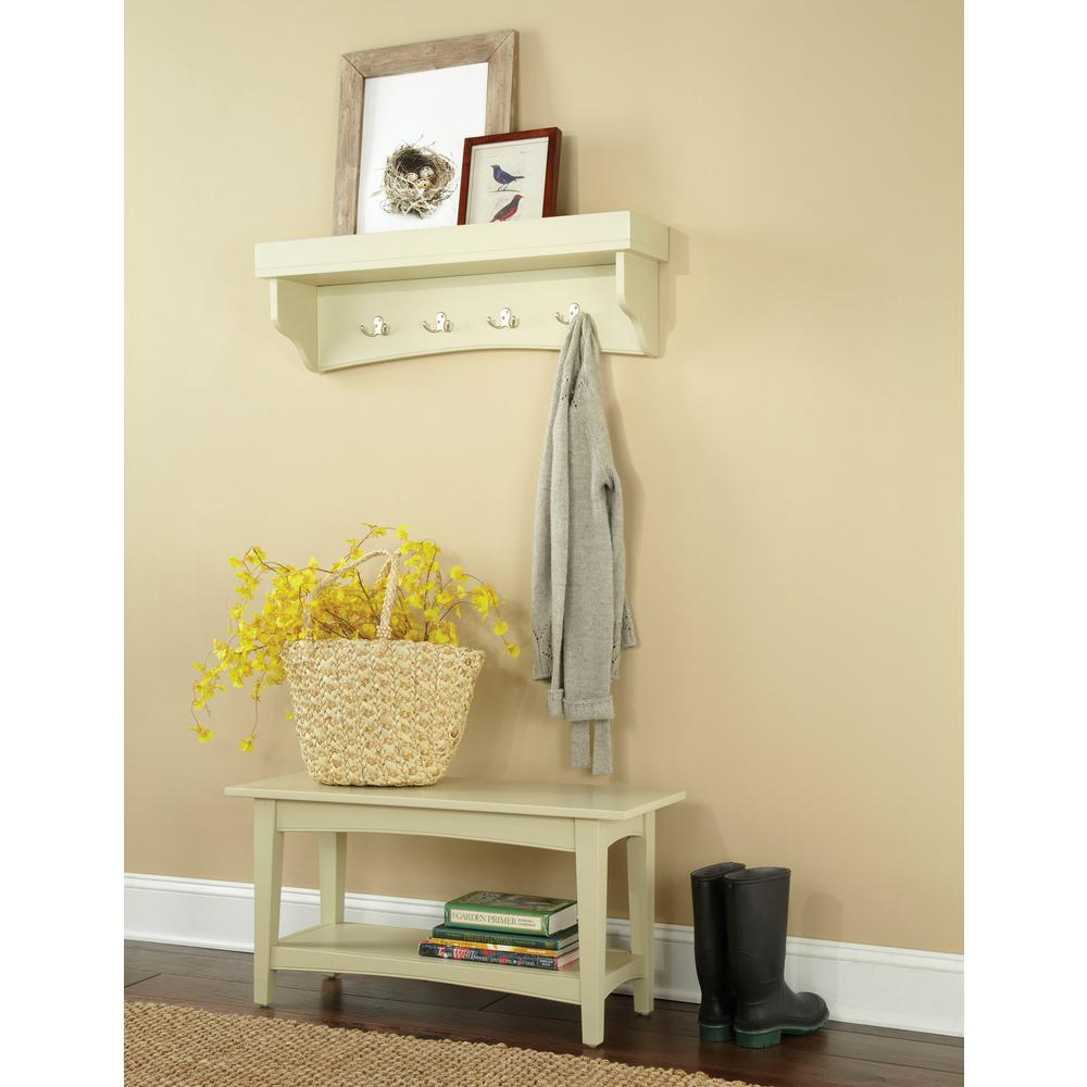 Alaterre Furniture Shaker Cottage Sand Hall Tree with Storage