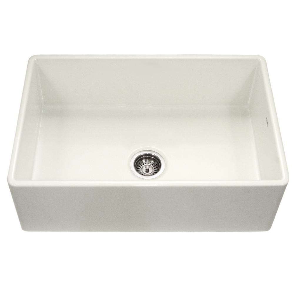 Platus Series Farmhouse Apron Front Fireclay 33 in. Single Bowl Kitchen