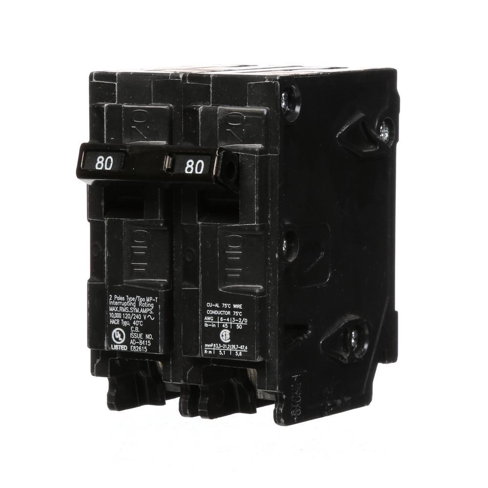 80 Amp Double-Pole Type MP Plug-In Circuit Breaker