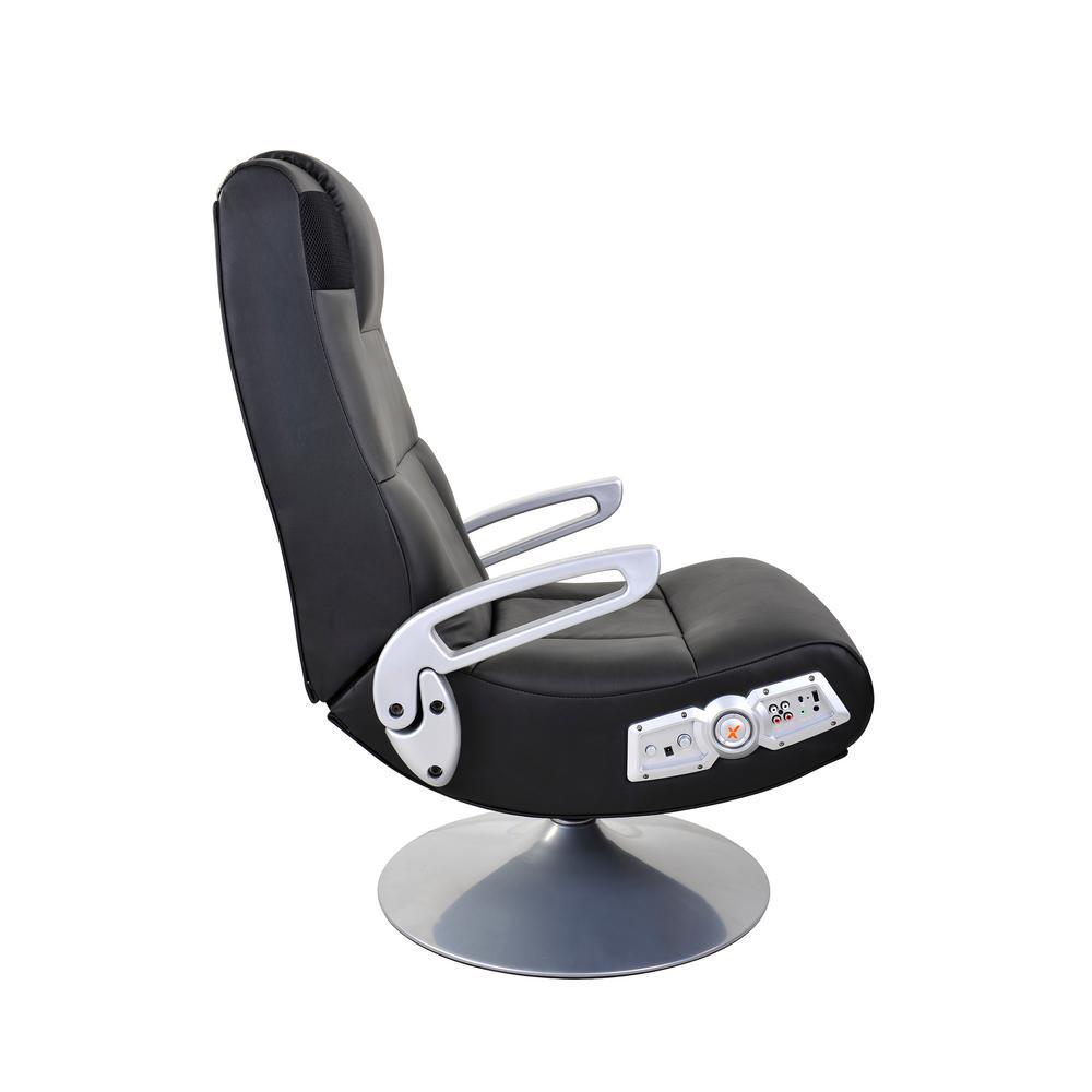 Phenomenal X Rocker Black Vinyl Wireless Audio Pedestal Chair 5127401 Pabps2019 Chair Design Images Pabps2019Com