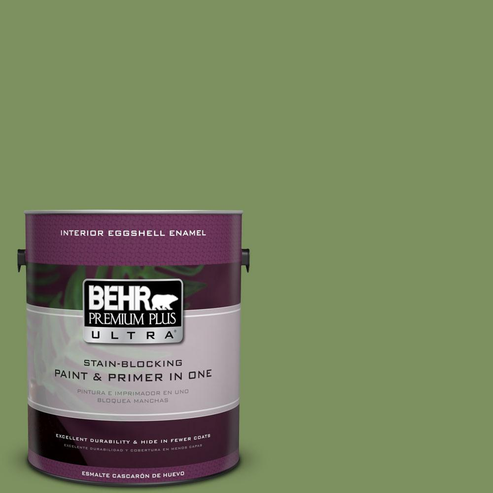 BEHR Premium Plus Ultra 1-Gal. #PPU10-3 Green Energy Eggshell Enamel Interior Paint