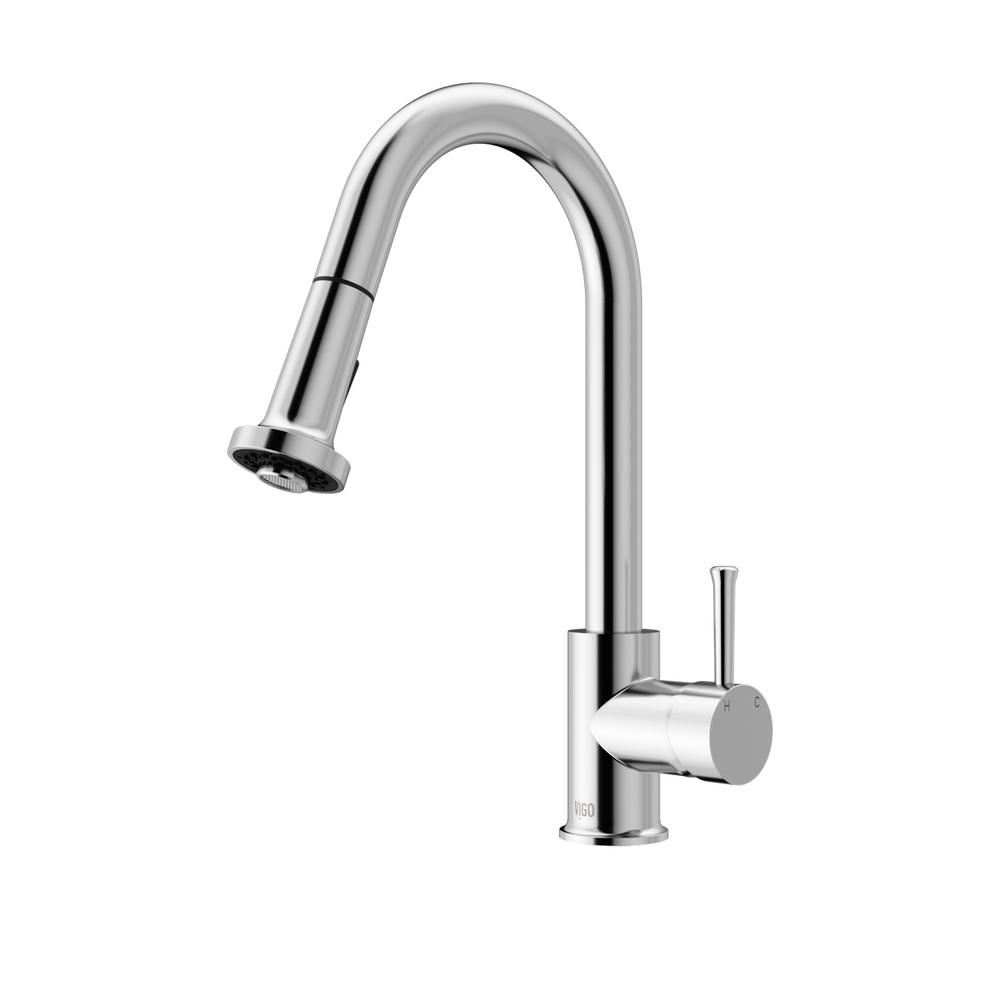 VIGO Single-Handle Pull-Out Sprayer Kitchen Faucet In Chrome