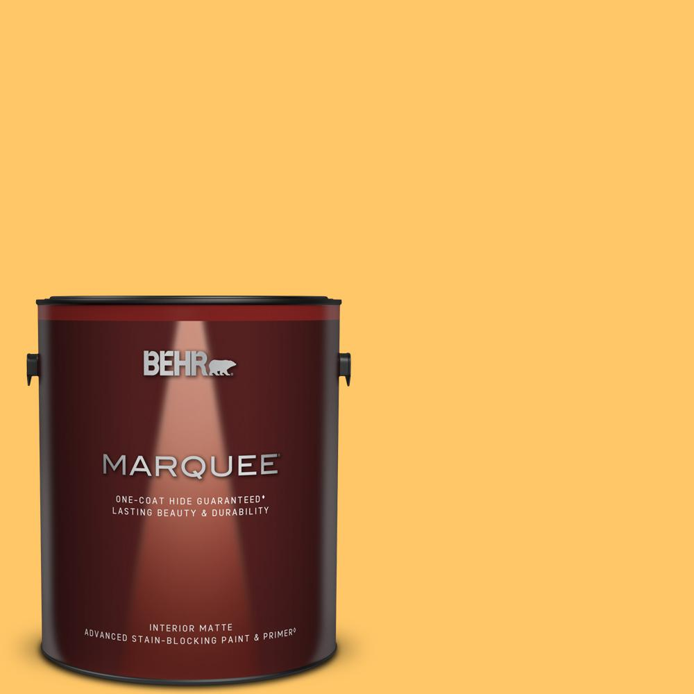 Behr Marquee 1 Gal Home Decorators Collection Hdc Sp16 05 Daffodil Matte Interior Paint Primer 145401 The Home Depot