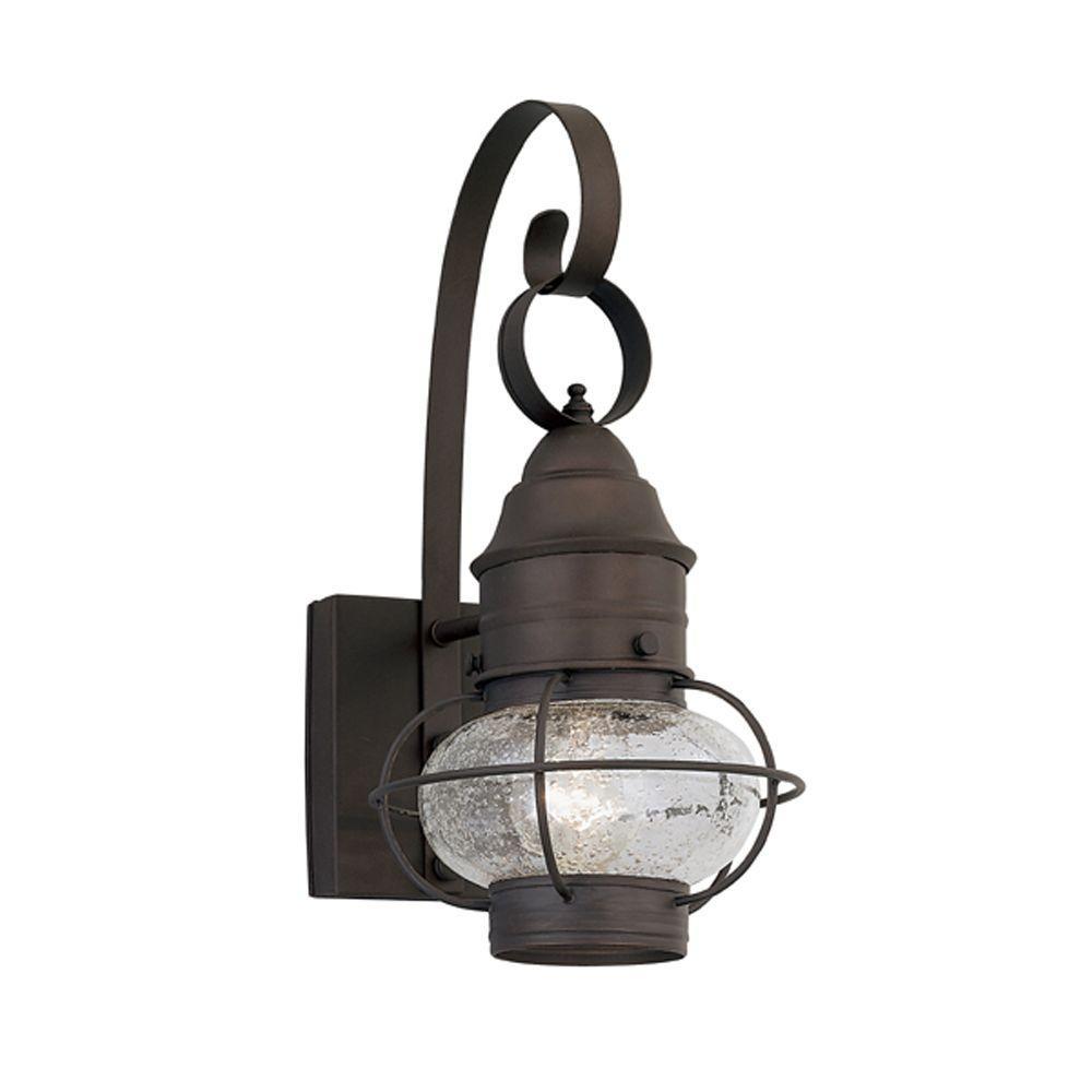 Nantucket Rustique Outdoor Wall-Mount Lantern Sconce