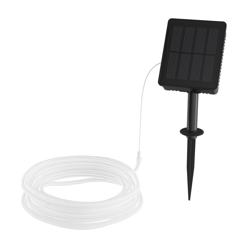 Pure Garden 100 Light 39 Ft Warm White Integrated Led Solar Rope