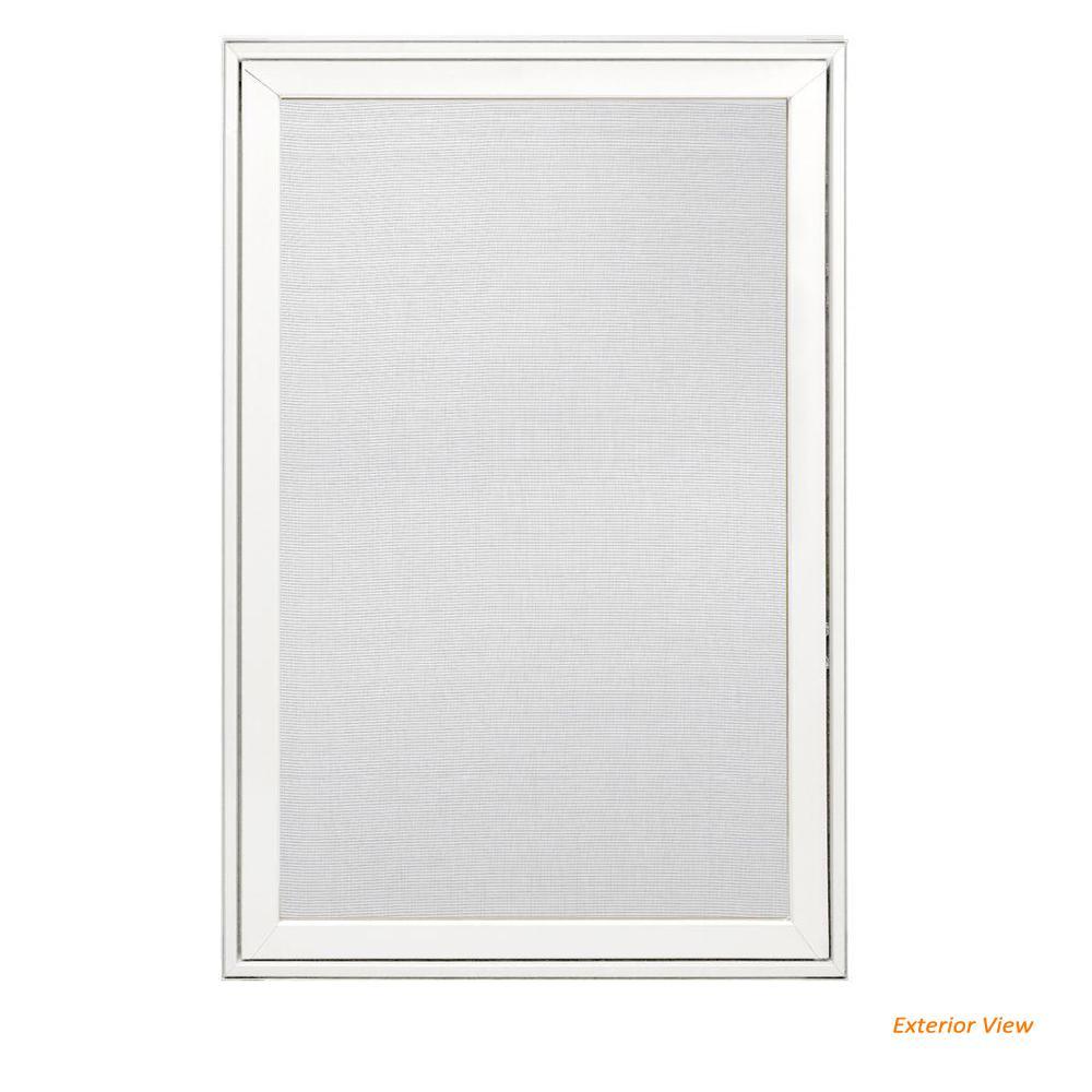 24.25 in. x 36.25 in. W-2500 Right-Hand Casement Wood Screen Window in White