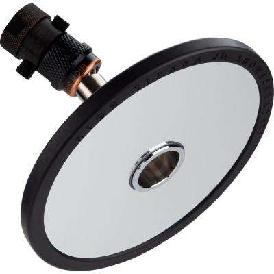 Reflections 1-Spray 5 in. 1.8 GPM Fixed Shower Head and Fogless Shaving Mirror In-One in Oil Rubbed Bronze