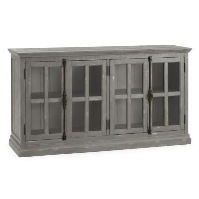 Loupin Grey Solid Wood Console