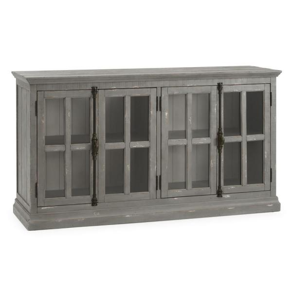 RST Brands Loupin Grey Solid Wood Console IP-RECGLDR-CON-GRY