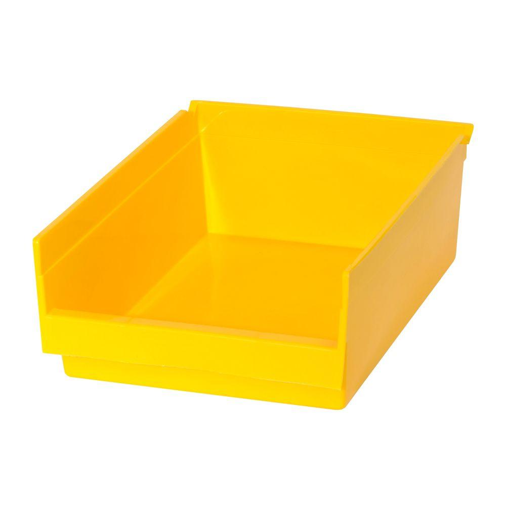 1.66 Gal. Heavy Duty Plastic Storage Bin in Yellow (24-Pack)