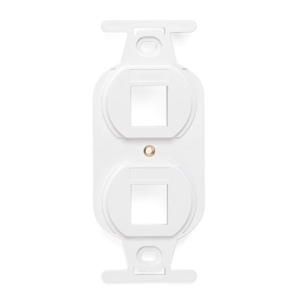 QuickPort Standard Size Type 106 2-Port Insert in White