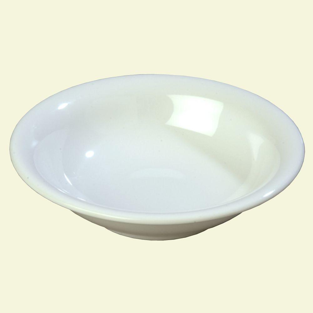 Carlisle 12 oz., 7.25 in. Diameter Wide Rim Melamine Rimmed Bowl in White (Case of 24)