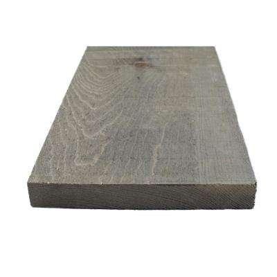 1 in. x 8 in. x 8 ft. Weathered Grey Painted Rough Pine Barn Board (3 Per Box)
