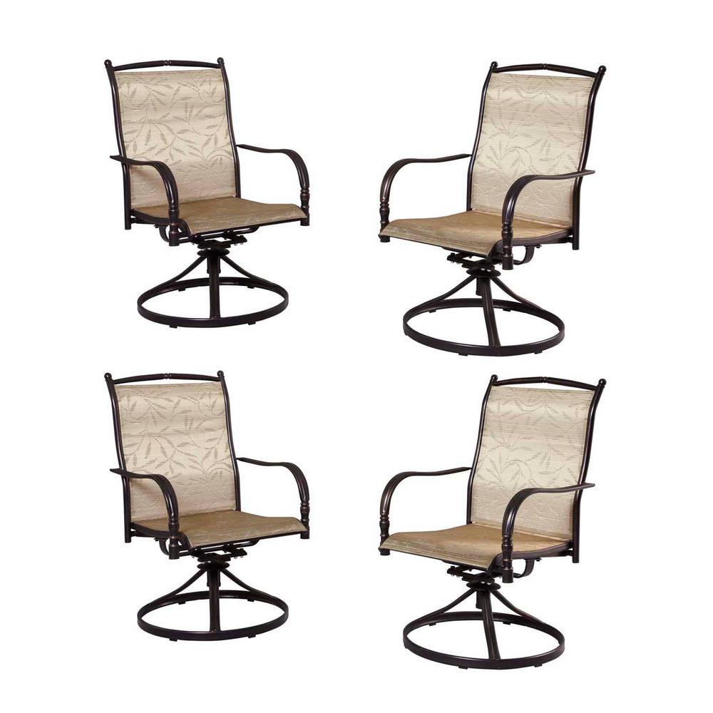 Hampton Bay Altamira Tropical Motion Patio Dining Chairs (Set of 4)