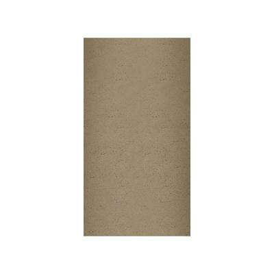 Crystal Colors 48 in. x 96 in. 1-Piece Easy Up Adhesive Corner Panel in Caramel Glass