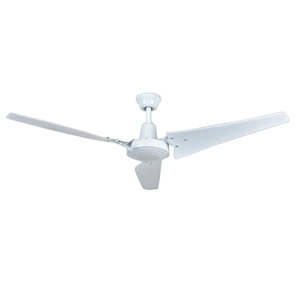 Hampton Bay Industrial 60 In Indoor White Ceiling Fan With Wall Wiring Two Switches To One Light Besides Diagram Control