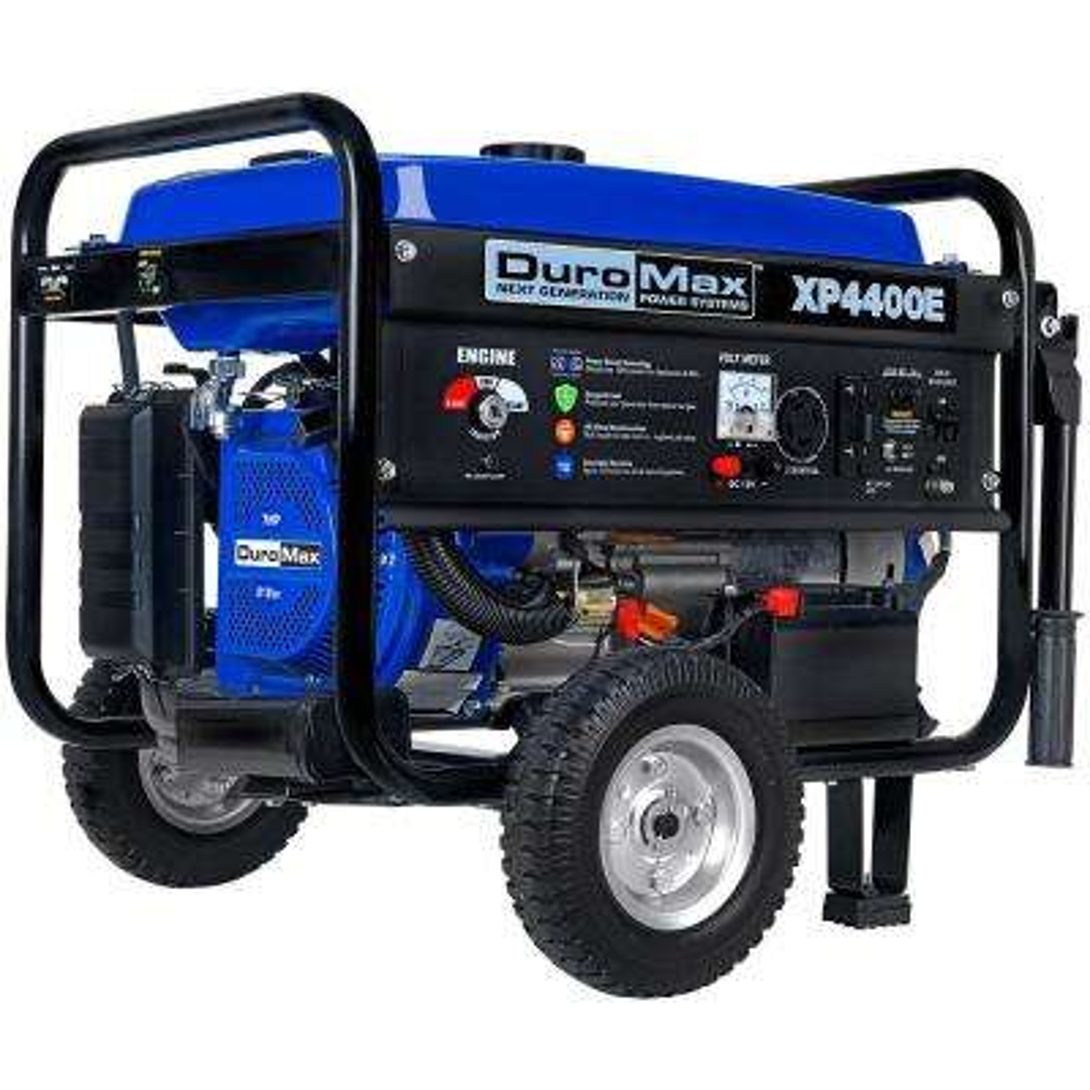 4,400-Watt/3,500-Watt Gasoline Powered Electric Start Portable Generator with Wheel Kit