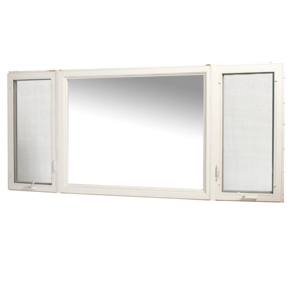 Tafco windows 107 in x 48 in vinyl casement window with for Casement window reviews