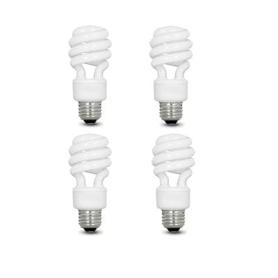 60-Watt Equivalent Daylight A19 Non-Dimmable CFL Light Bulb (4-Pack)