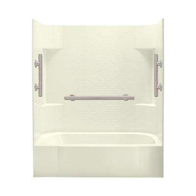 Accord 30 in. x 60 in. x 72 in. Bath and Shower Kit Right-Hand Drain in Biscuit