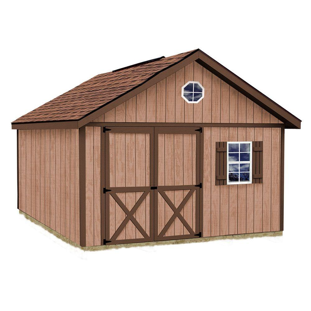 Best Barns Brandon 12 ft. x 24 ft. Wood Storage Shed Kit with Floor