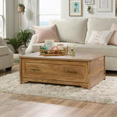 Coral Cape 43 in. Sindoori Mango Large Rectangle Composite Coffee Table with Drawers