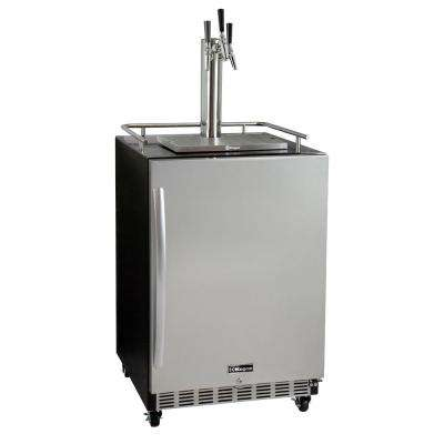 24 in. Wide Triple Tap All Stainless Steel Commercial Built-In Kegerator with Kit
