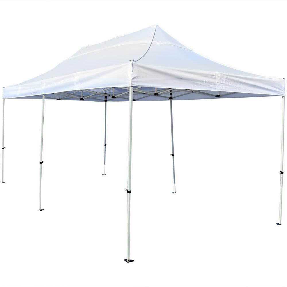 10 ft. x 20 ft. White Instant Pop Up Canopy Party