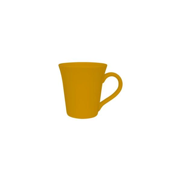 Coup 11.16 oz. Yellow Earthenware Mugs (Set of 12)