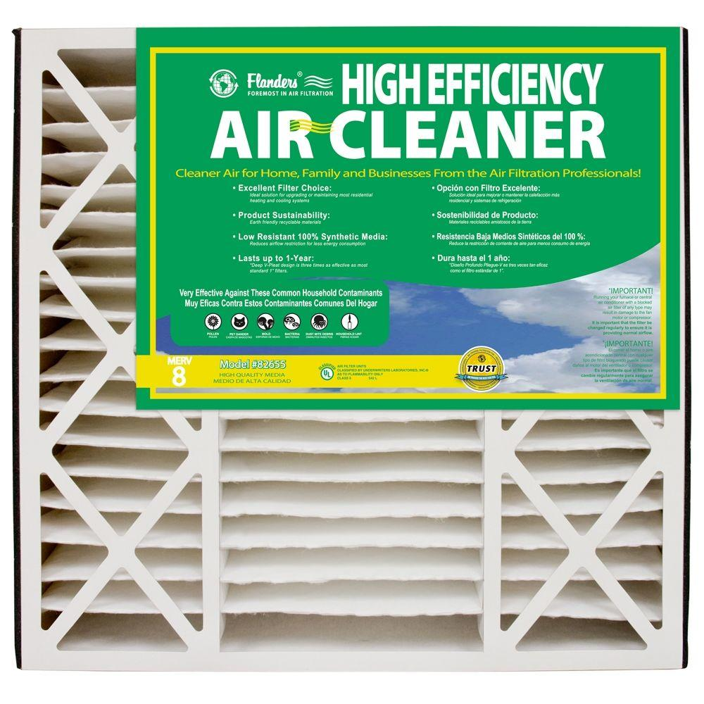 Flanders PrecisionAire 20 in. x 25 in. x 5 in. Air Filter Deep ...