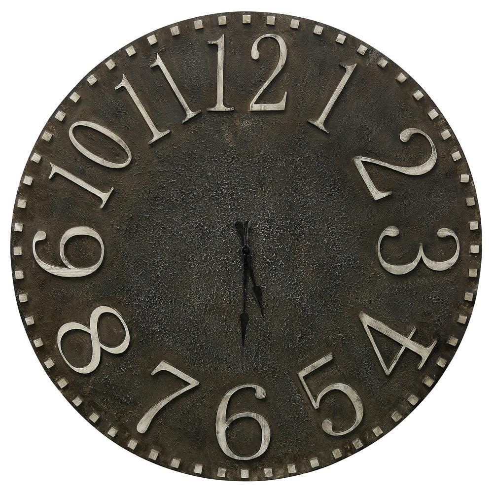 StyleCraft Industrial Dark Gray, Weathered White Analog Clock was $177.74 now $99.12 (44.0% off)