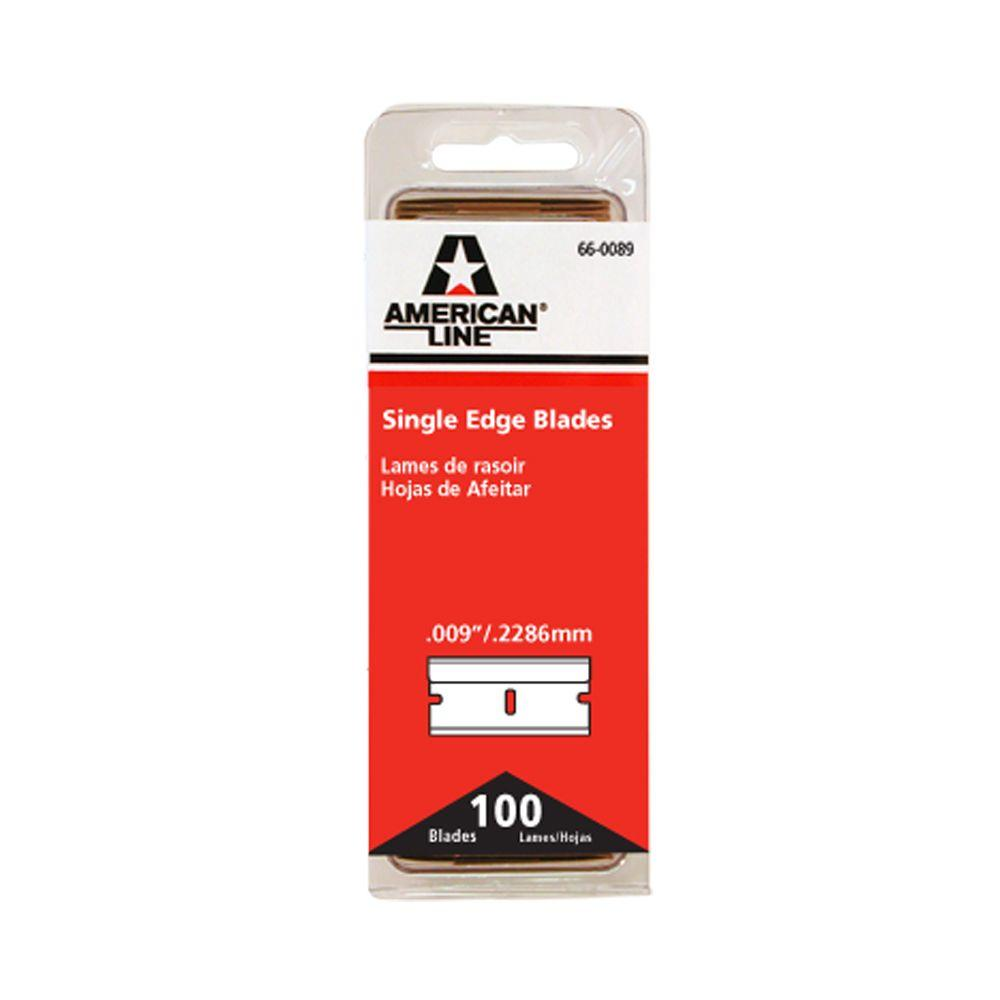 American Line 1-1/4 in. x 4-7/8 in. Single Edge Razor Blades