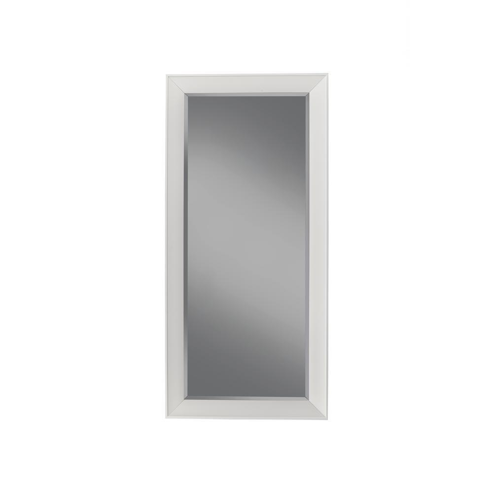 Sandberg Furniture Contemporary White Full Length Leaner Floor Mirror