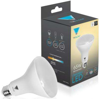 65-Watt Equivalent BR30 Dimmable LED Light Bulb Deco White