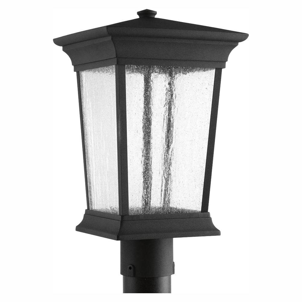 Arrive Collection 1-Light Black LED Outdoor Post Lantern