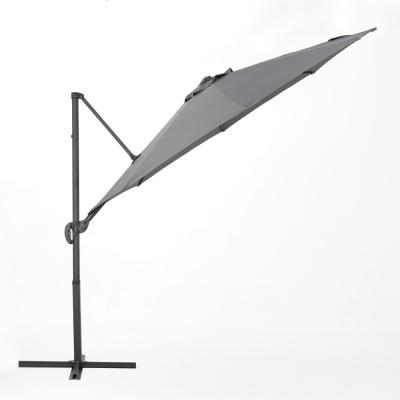 Piazza 9 ft. Cantilever Patio Umbrella in Grey