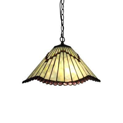 Ahlai 2-Light Bronze Indoor Tiffany-Style Hanging Lamp