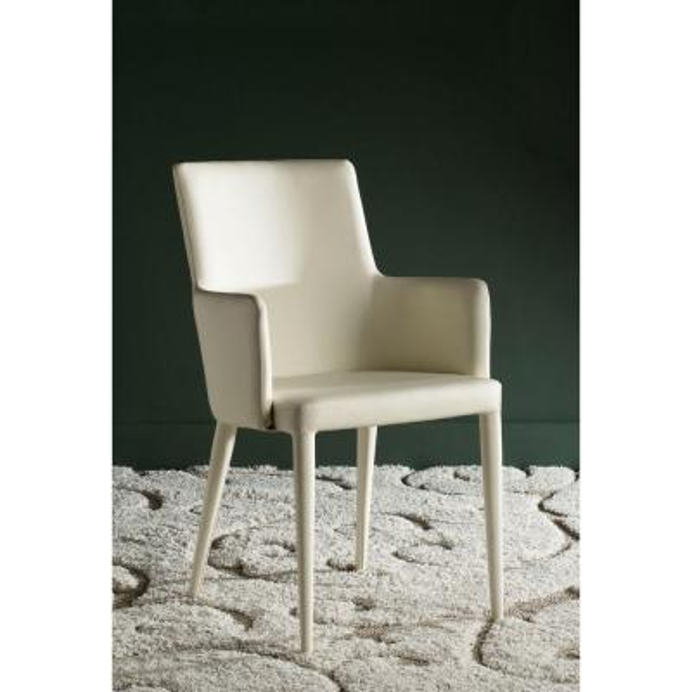 Summerset Buttercream Bicast Leather Arm Chair