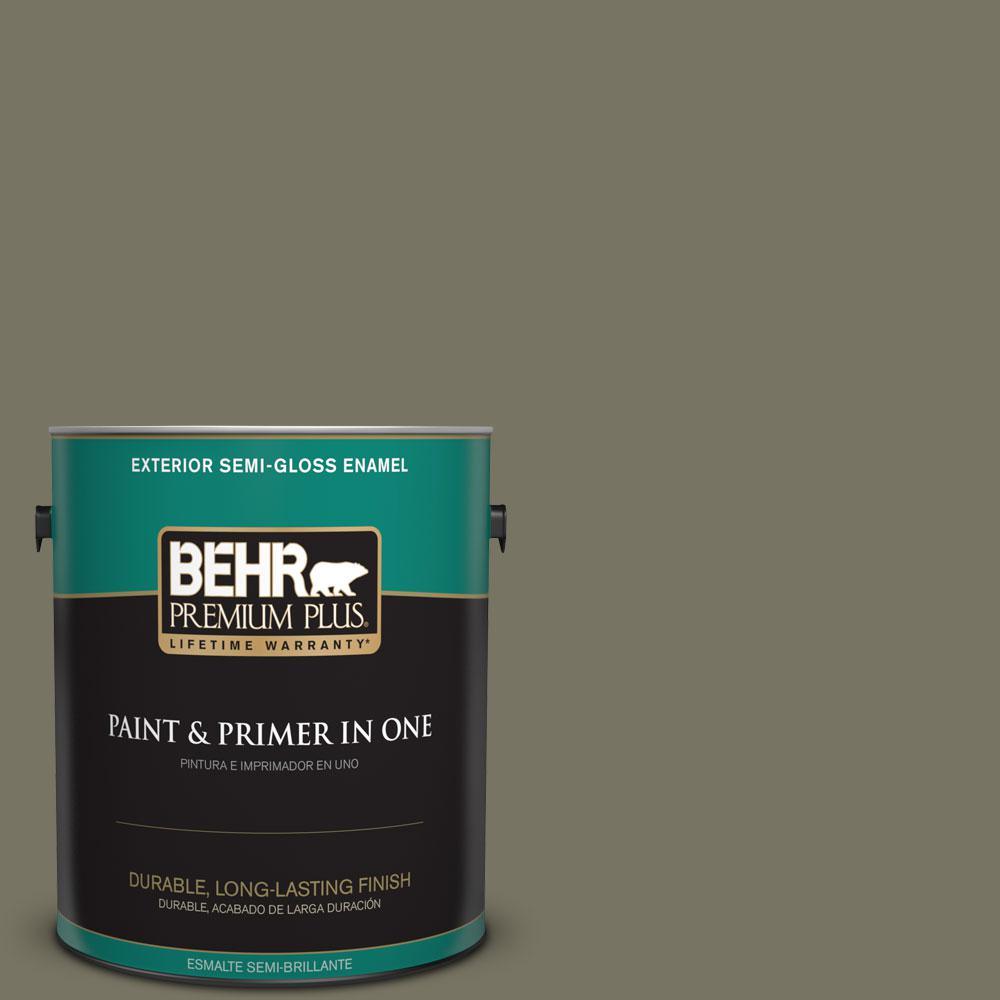 1-gal. #BXC-20 Amazon River Semi-Gloss Enamel Exterior Paint