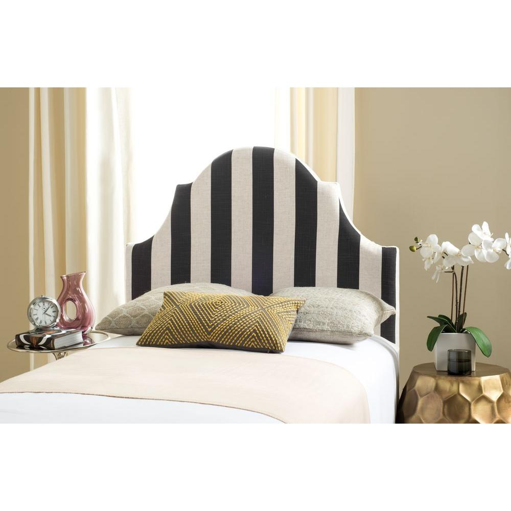 Safavieh Hallmar Black And White Twin Headboard