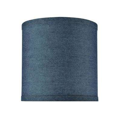 8 in. x 8 in. Washing Blue Drum/Cylinder Lamp Shade