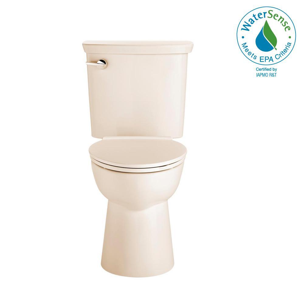 Vormax Tall Height 2-Piece 1.28 GPF Single Flush Elongated Toilet in Bone