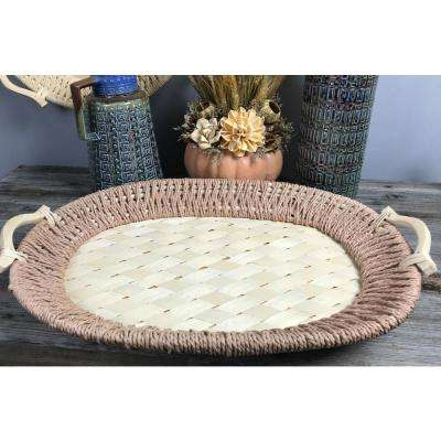 Natural and Unfinished Oval Basket Tray