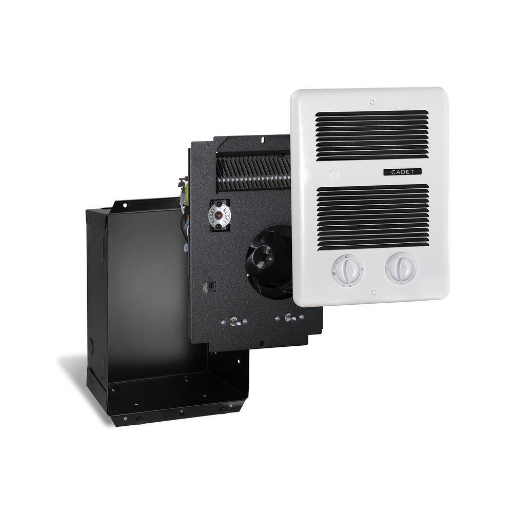 Com-Pak Bath 1,300-Watt 240-Volt In-Wall Fan-Forced Heater with Timer in White