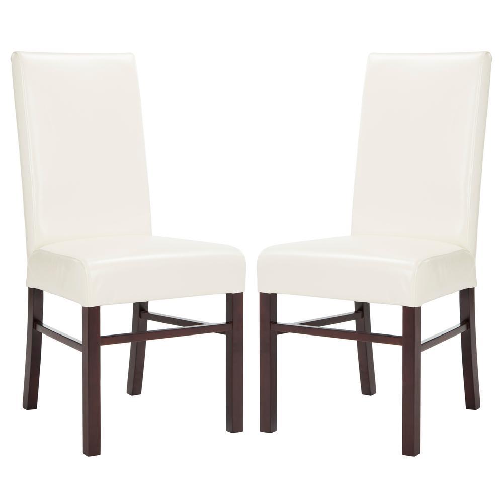 safavieh flat cream dining chair set of 2 hud8205b set2 the home depot. Black Bedroom Furniture Sets. Home Design Ideas