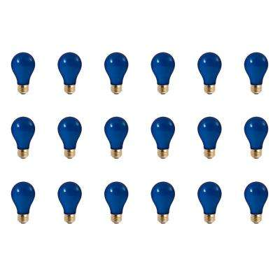 60-Watt A19 Ceramic Blue Dimmable Incandescent Light Bulb (18-Pack)